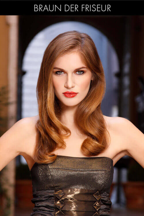 Classic Long Hairstyle for Thick Hair
