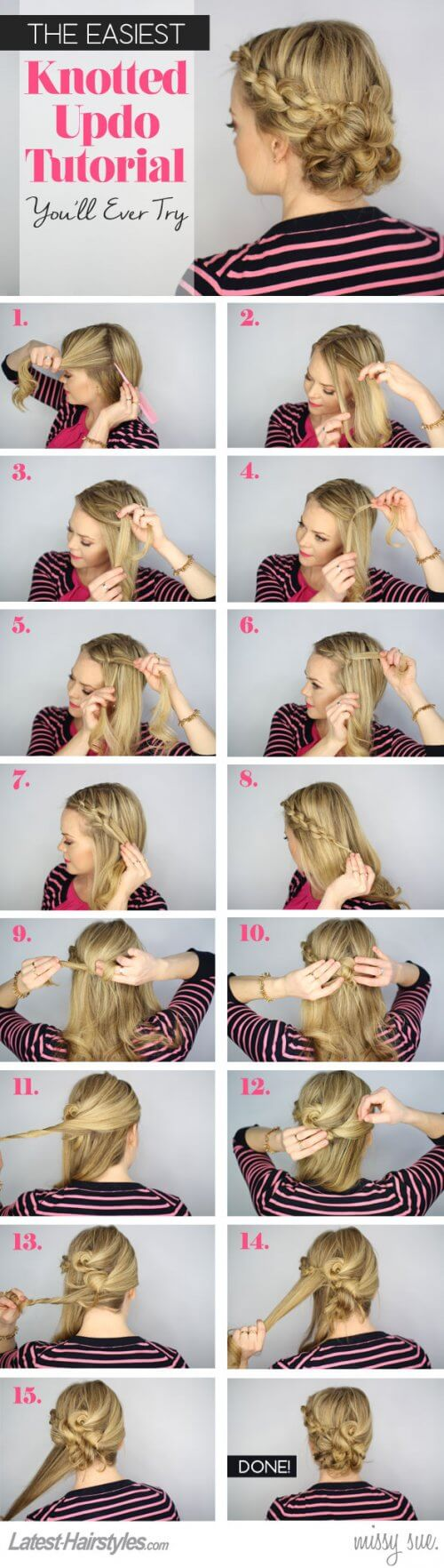 Easiest-Knotted-Updo-Tutorial