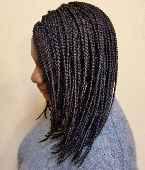Ghana braids for medium length hair