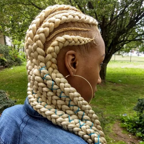 Ghana braids on blonde hair
