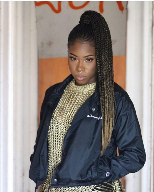 Ghana braids with ombre hair