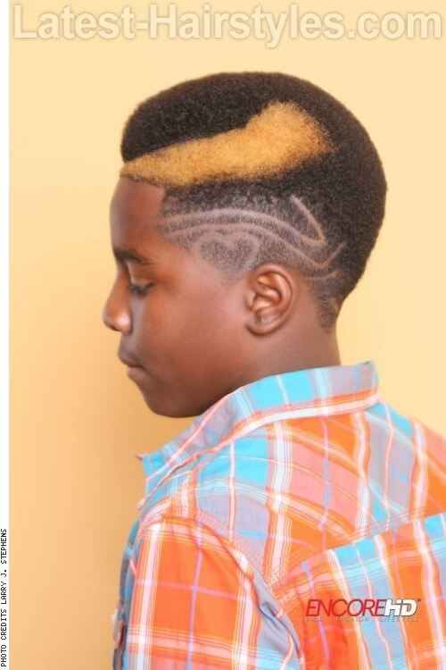 haircut-for-boys-with-buzzed-sides-and-pop-of-color