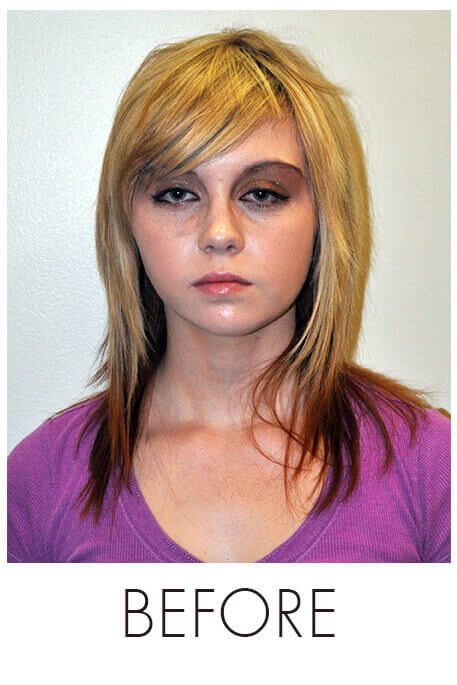 Pastel Blonde Hair Makeover - Before