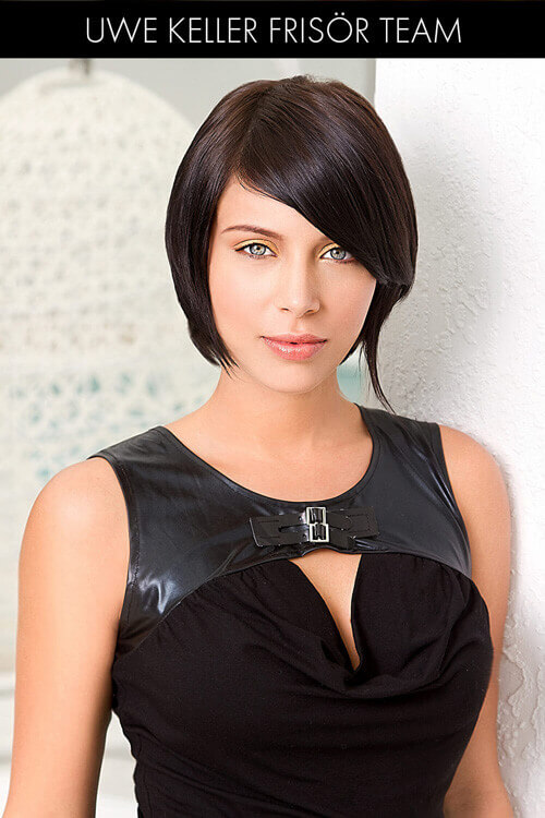 Layered Asymmetric Bob for Thick Hair