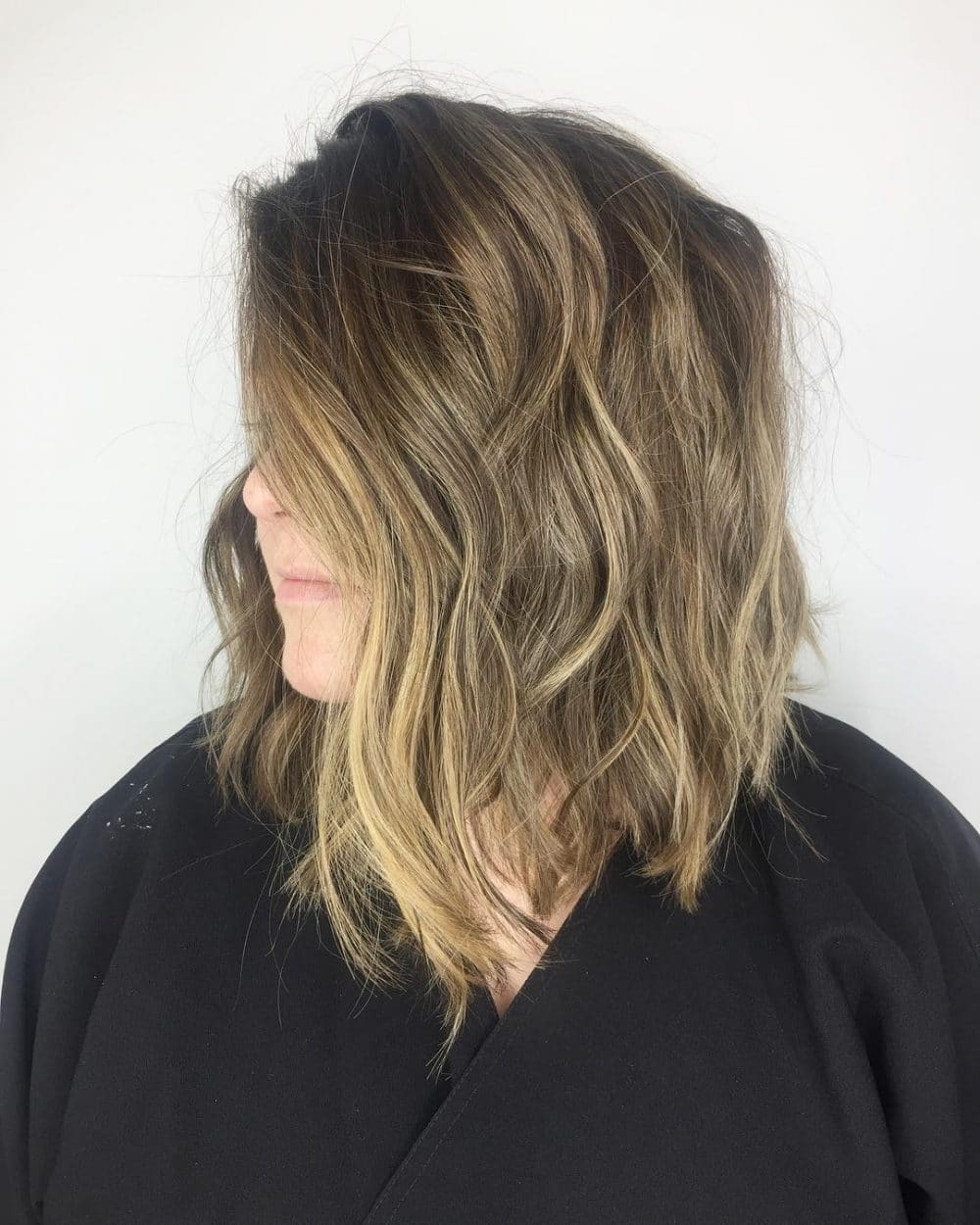 Lived-In Lob hairstyle