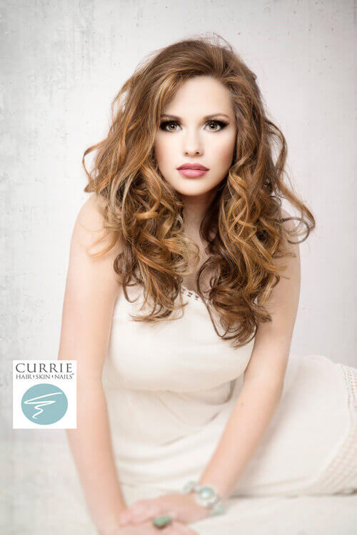 Long Hairstyle for Thick Hair with Natural Curls