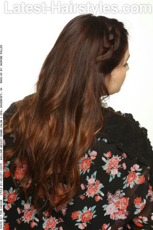 Long Hairstyle with Subtle Layers Back