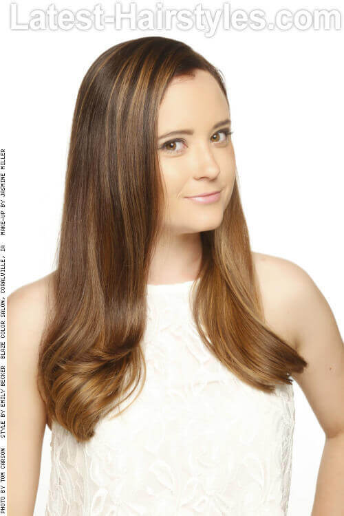 Long Sleek Haircut with Layers