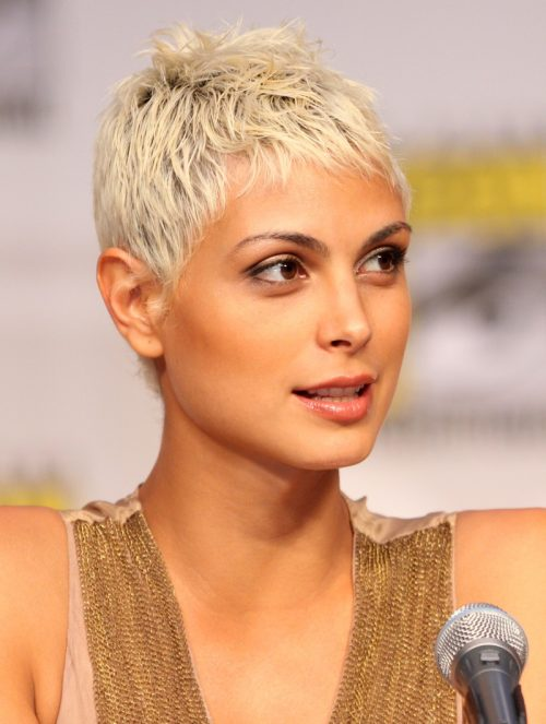 Morena Baccarin short and spiky hair