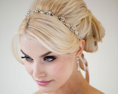 ribbon and rhinestone headband