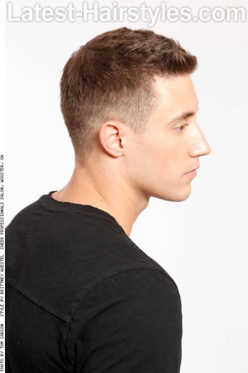 Short Asymmetrical Haircut for Men Side