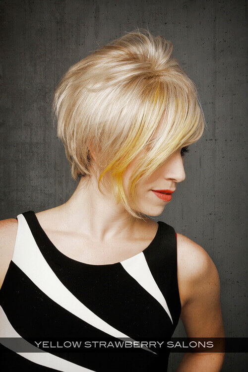 Short Haircut with Long Fringe Side