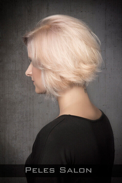 Short Hairstyle for Fine Hair with Layers Side