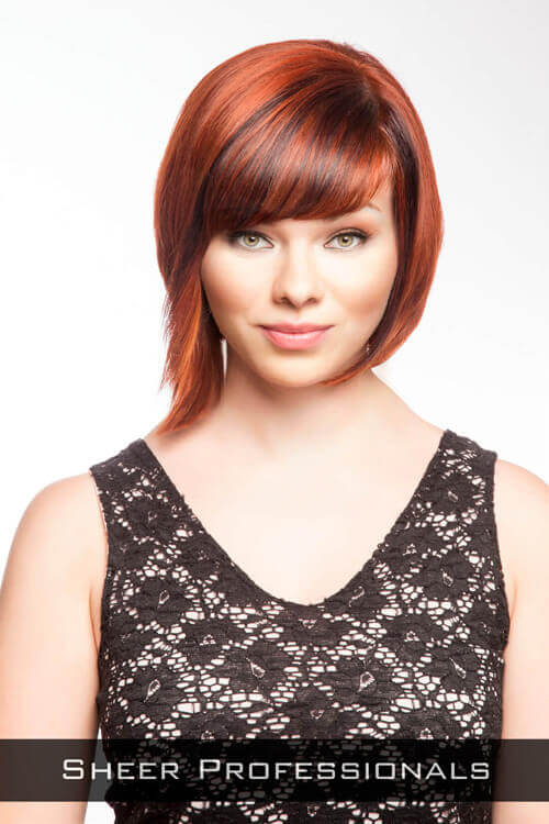 Short Hairstyle with Fringe for Long Faces