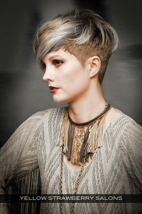 Short Hairstyle with Fringe for Thick Hair Side