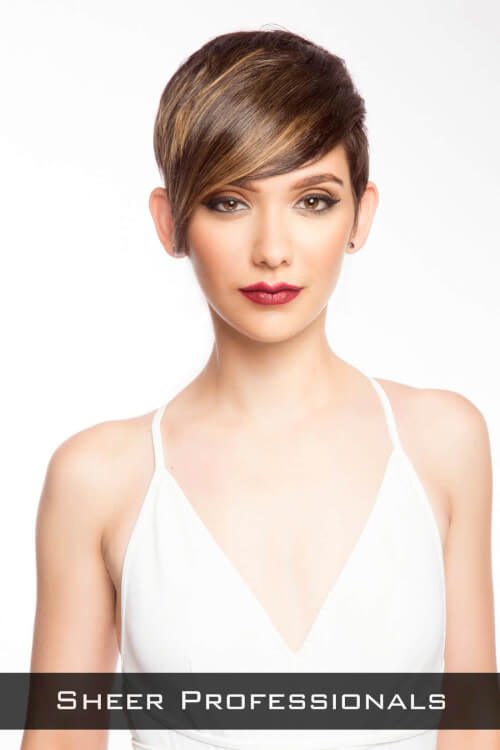 Short Hairstyle with Long Layers for Thick Hair