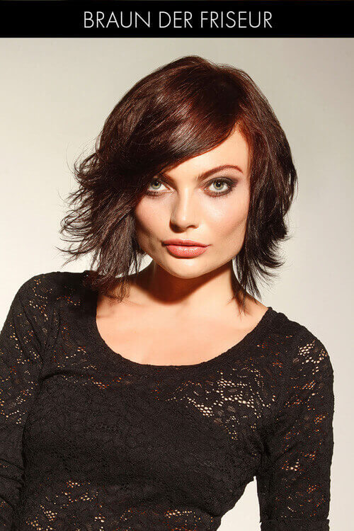 Short Hairstyle with Side Swept Fringe