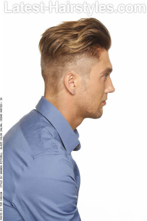 Tousled Hairstyle for Men Side