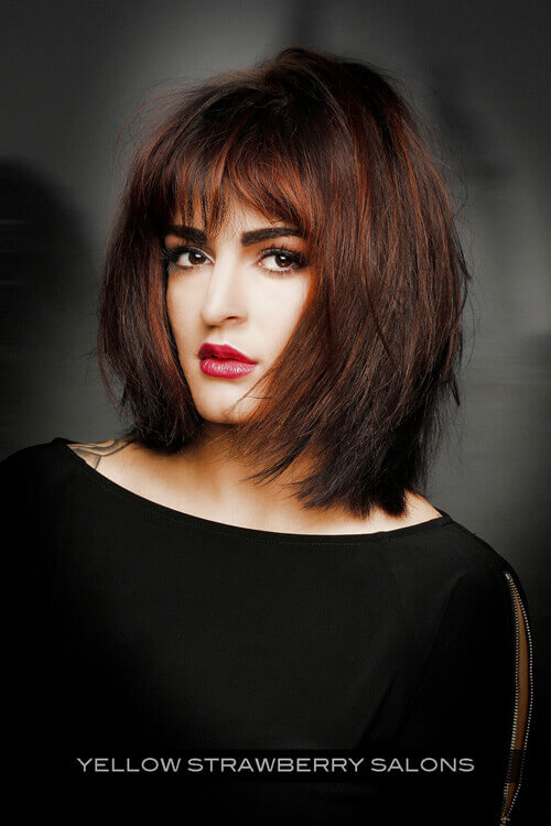 Trendy Bob Hairstyle For Round Faces