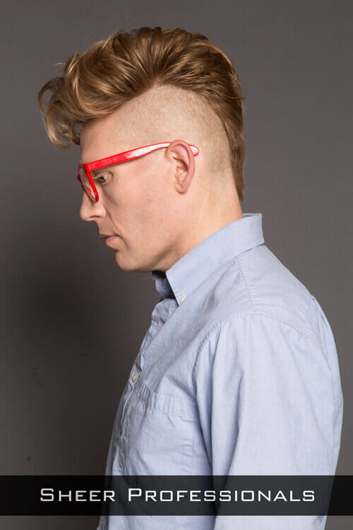 Trendy Mohawk Guy Hairstyle Side
