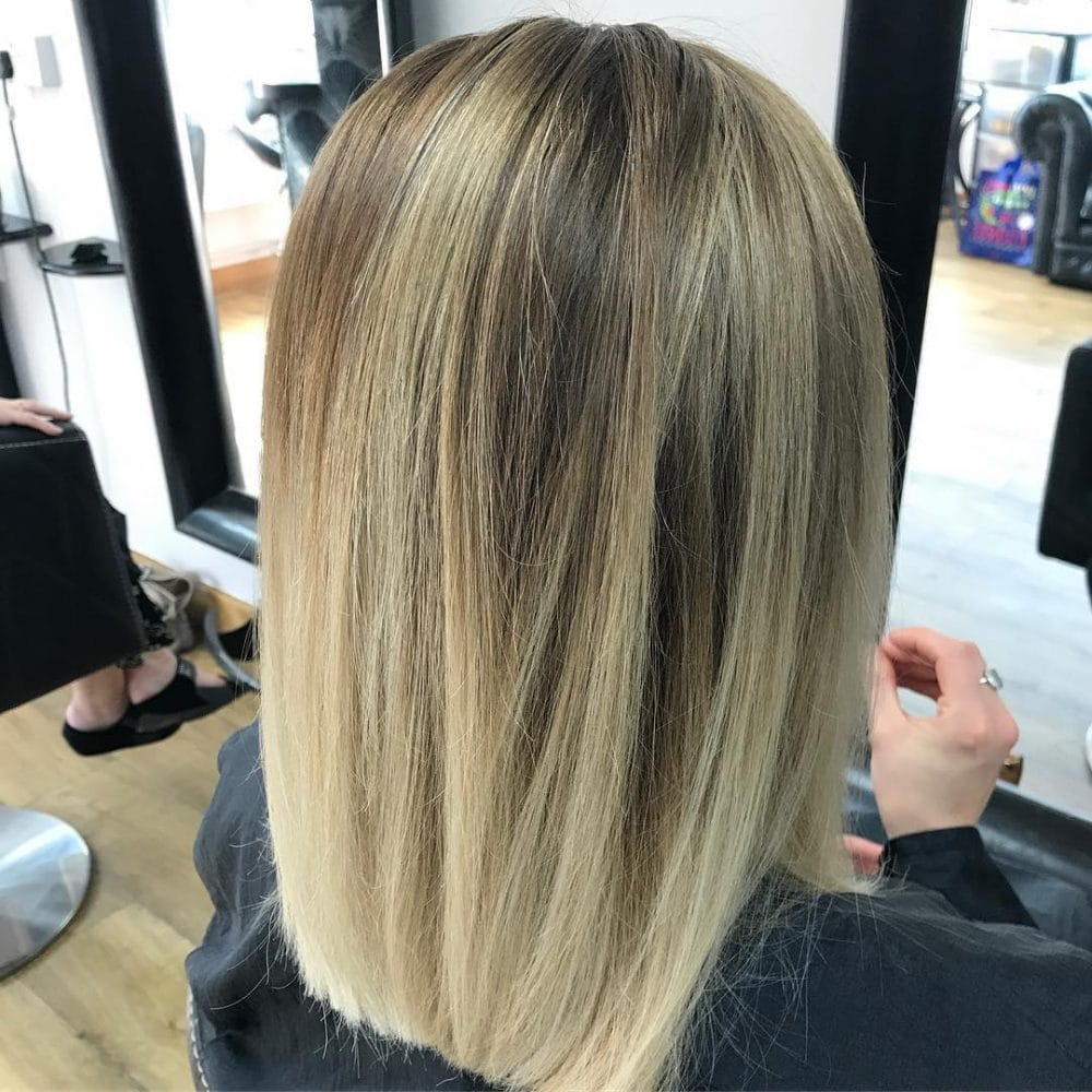 Trendy Lob hairstyle