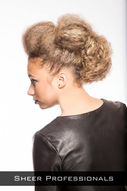Updo with Twists and Texture Side
