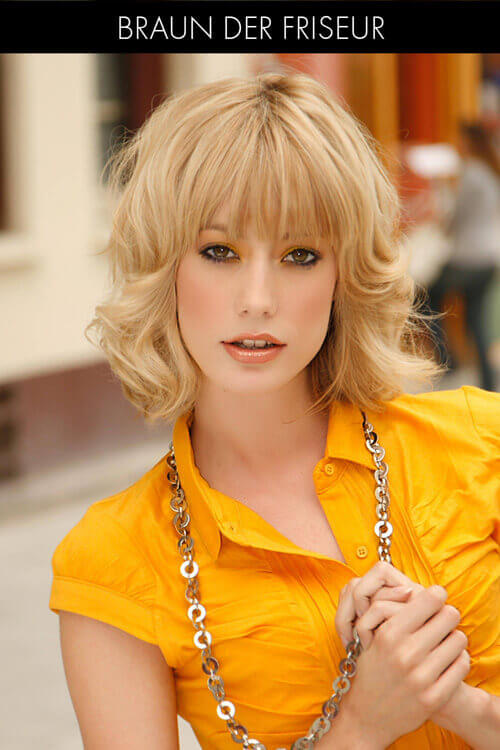 Wavy Bob Hairstyle with Fringe