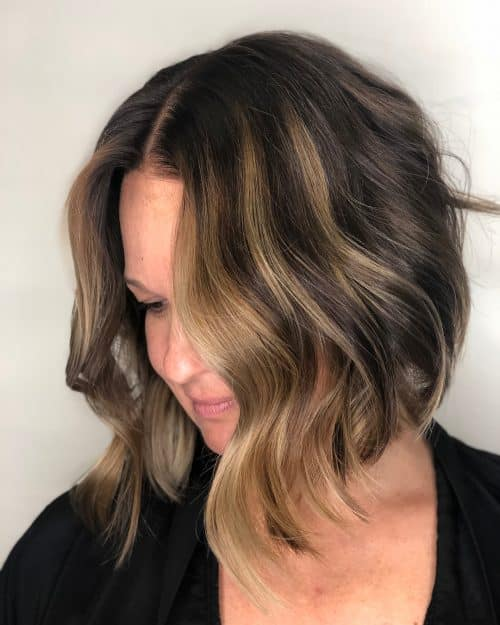 A-Line Bob with Dirty Blonde Highlights
