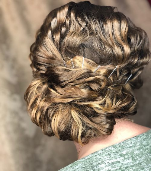 Picture of a little bit of fun curly updo