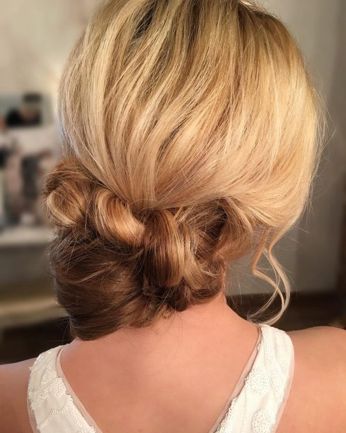Picture of a simple party updo