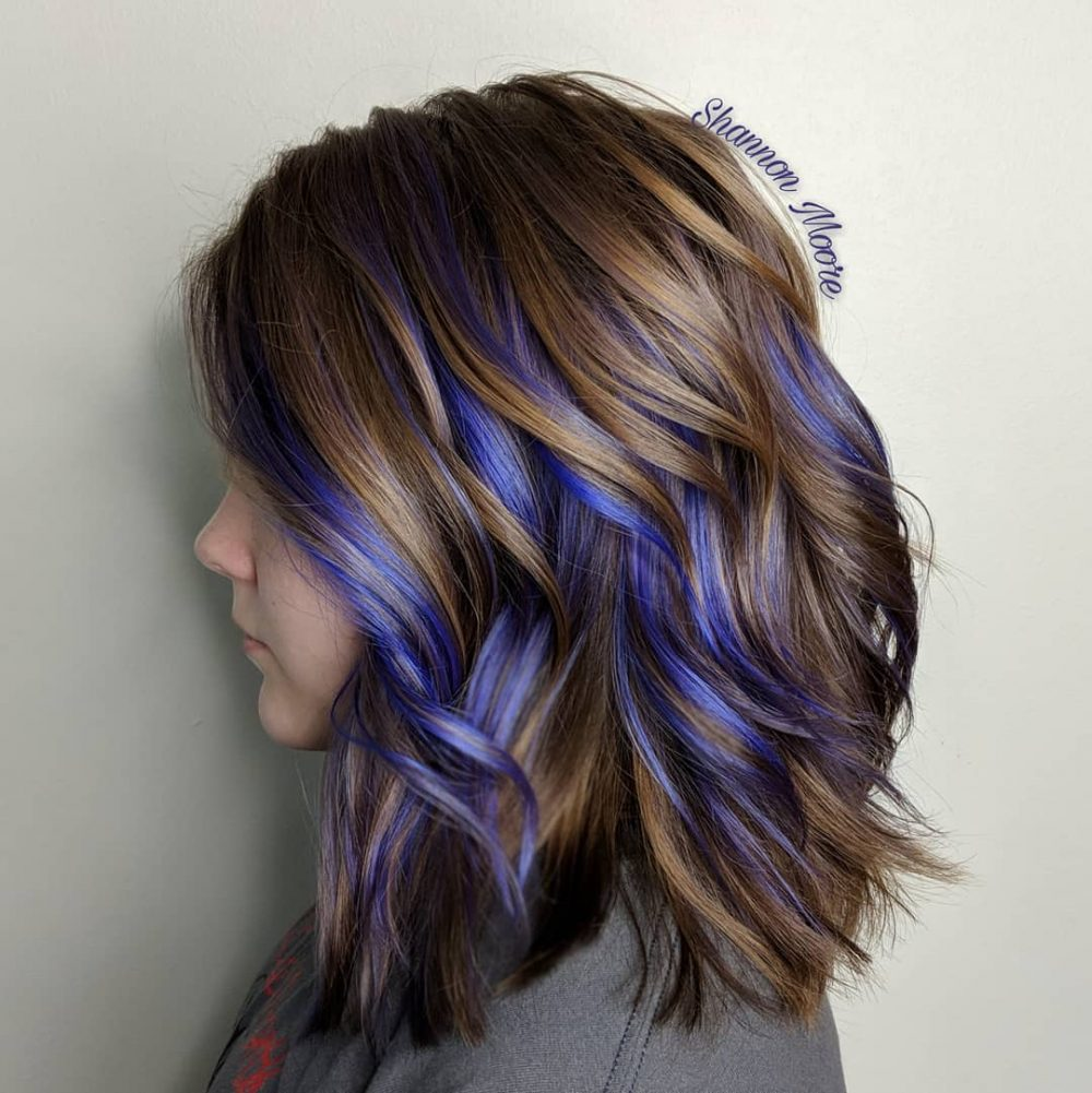33 cutest peekaboo highlights youll ever see in 2018 a touch of purple hairstyle solutioingenieria Image collections