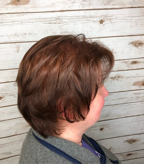 Auburn color for women over 50 with fine thin hair