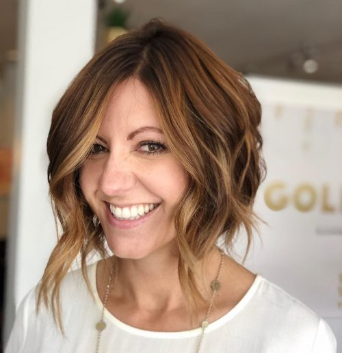 Picture of adorable long layered bob