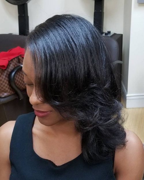 Shoulder length african american hairstyle