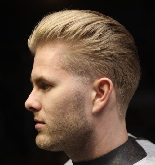 Picture of an airy textured men's taper fade