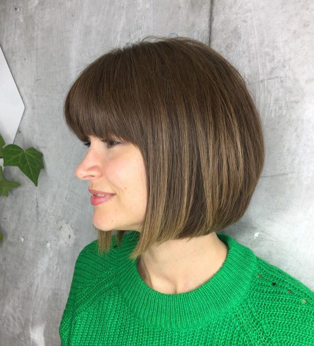 A-Line With a Fringe hairstyle