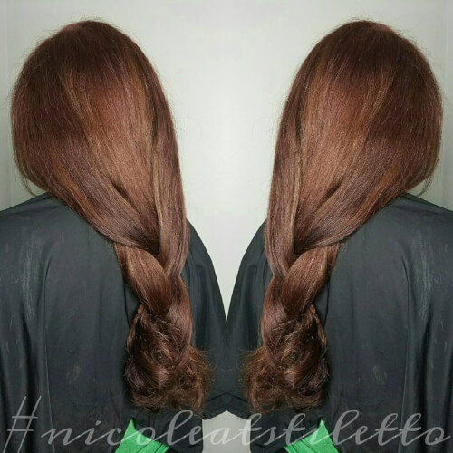 alluring auburn hair color