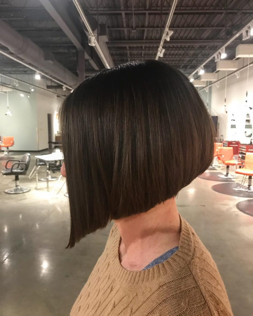 Angled-Forward Bob hairstyle