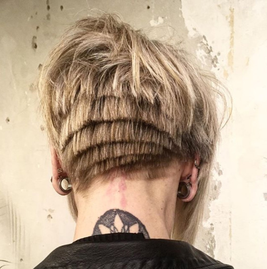 Anime-Inspired hairstyle