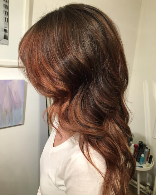 antique rose gold hair color