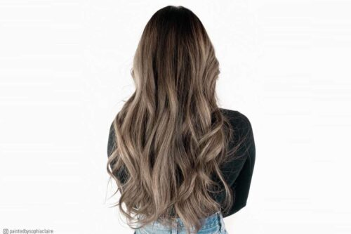 Trendy ash brown hair colors