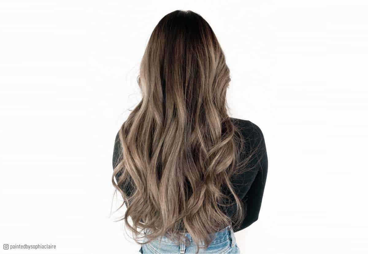 Trendy ash brown hair colors