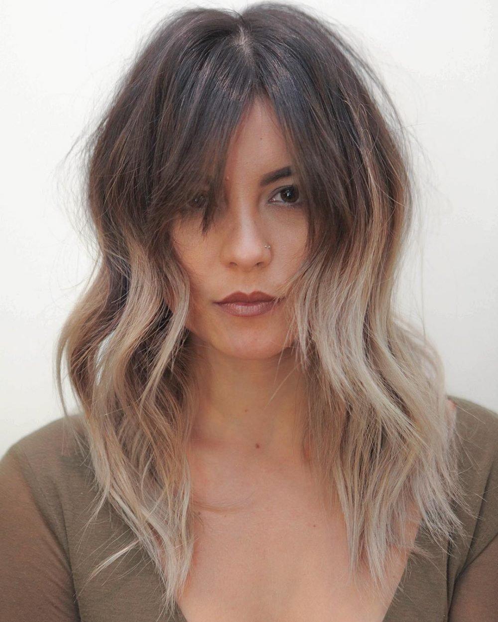 Ashy Ombre Medium Length Hairstyle