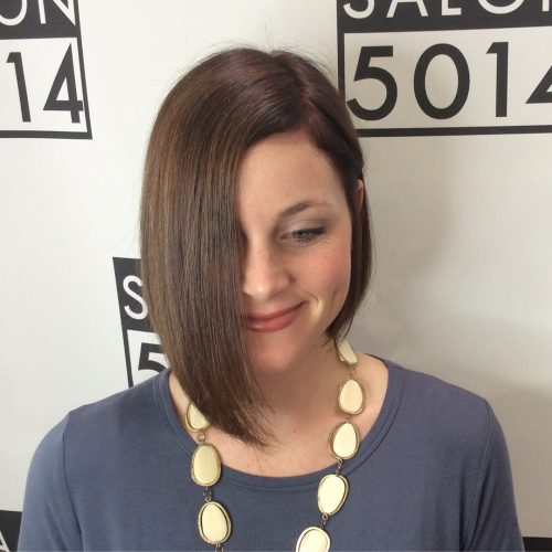 Asymmetric Bob With Square Layering hairstyle