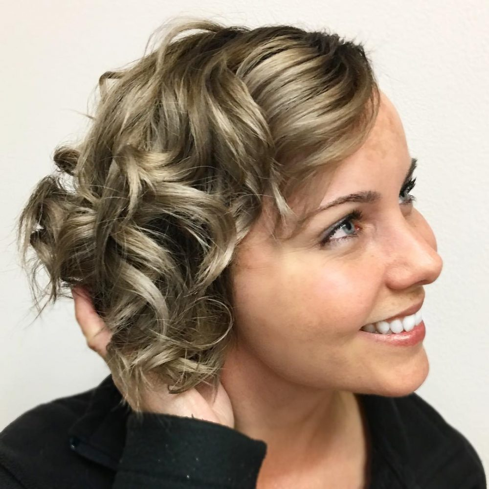 Asymmetrical A-Line hairstyle