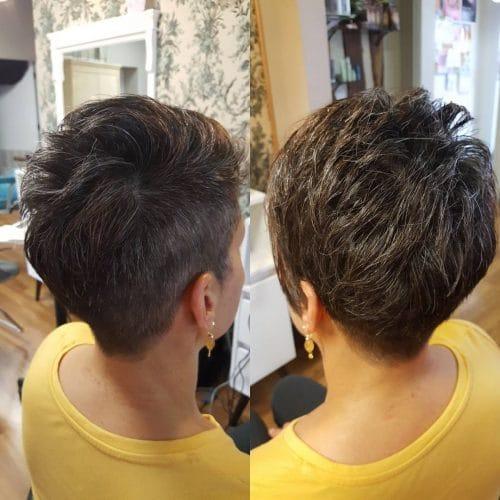 Asymmetrical Flair hairstyle