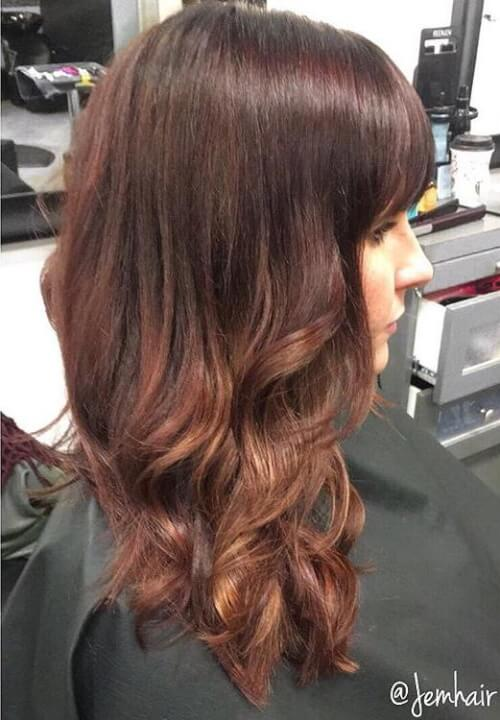 auburn balayage hair color