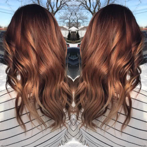 auburn color melt hair color
