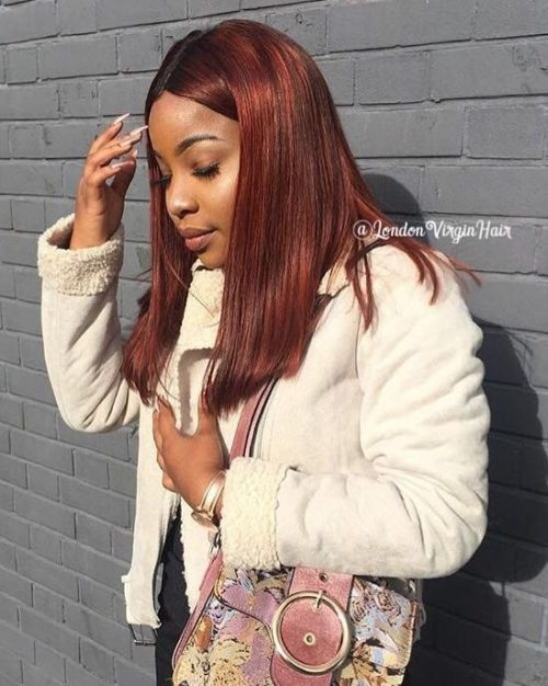 Auburn on African American hair