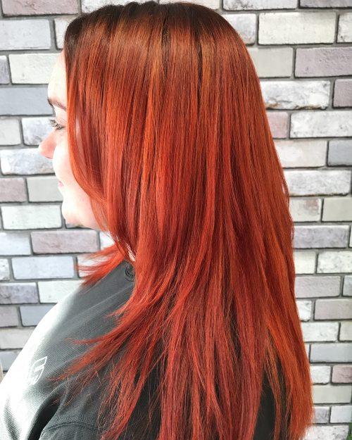 Auburn orange hair